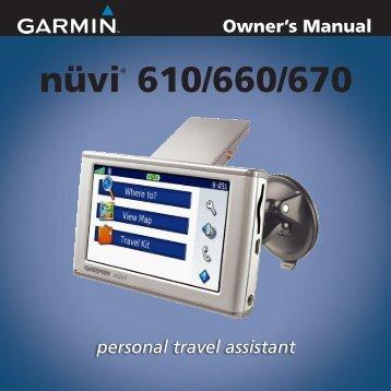 Garmin nuvi 610 - Owner's Manual
