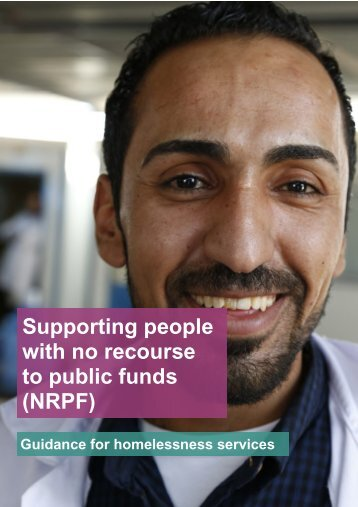 Supporting people with no recourse to public funds (NRPF)