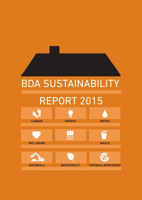 BDA SUSTAINABILITY REPORT 2015