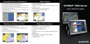 Garmin GPSMAP 5208 - Quick Reference Guide
