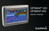 Garmin GPSMap640 US, No AC Charger - Owner's Manual