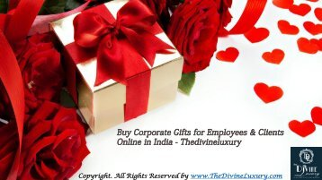 Corporate Gifts for Employees & Clients | Buy Corporate Gifts Online : Thedivineluxury