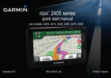 Garmin nuvi2415,GPS,Nordics - Quick Start Manual