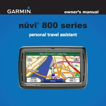 user manual garmin nuvi 260w 1 my pdf manuals rh yumpu com garmin nuvi 260w manual garmin nuvi 265 manual