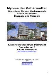 Myome der Gebärmutter.pdf - Kinderwunschzentrum Darmstadt