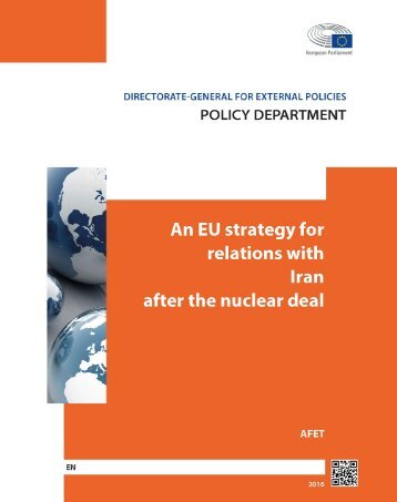 An EU Strategy for relations with Iran after the nuclear deal