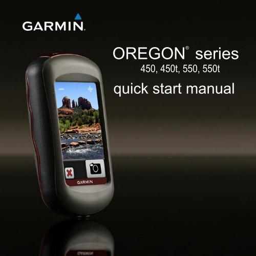 Garmin Oregon 550 GPS,Thai - Quick Start Manual