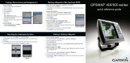 Garmin GPSMAP 421 - Quick Reference Guide