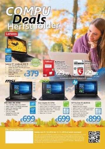 CompuDeals Herfst Folder
