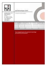 Das Unternehmen stellt sich vor -englisch- - kgk Elektroanlagen GmbH