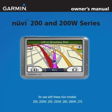 User manual garmin nuvi 255w my pdf manuals.
