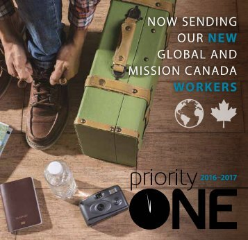 NOW SENDING OUR NEW GLOBAL AND MISSION CANADA WORKERS
