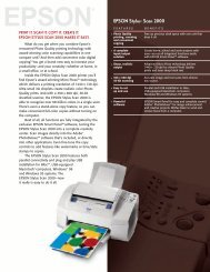 Epson Epson Stylus Scan 2000 All-in-One Printer - Product Brochure