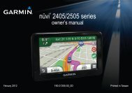 Garmin nüvi® 2405, Eastern and Central Europe - Owner's Manual
