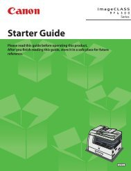 Canon imageCLASS MF6590 - imageCLASS MF6540/MF6590/MF6595/MF6595CX Starter Guide