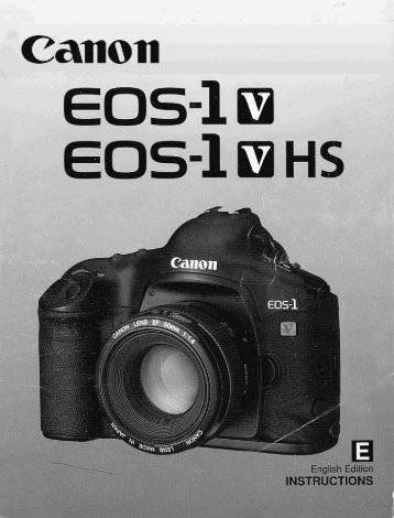 Canon EOS-1v - EOS-1V Instruction Manual