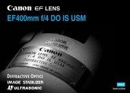 Canon EF 400mm f/4 DO IS USM - EF 400mm f/4 DO IS USM Instruction Manual