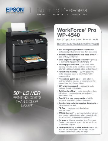 Epson Epson WorkForce Pro WP-4540 All-in-One Printer - Product Brochure