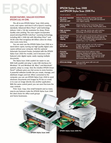 Epson Epson Stylus Scan 2500 Pro All-in-One Printer - Product Brochure