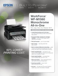Epson Epson WorkForce WF-M1560 Monochrome Multifunction Printer - Product Specifications