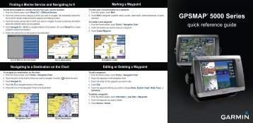 Garmin GPSMAP 5008 - Quick Reference Guide