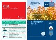 VHS-Programm Herbst - Winter 2012 (PDF 3.100 KB