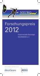"""Nachwuchspreis für """"Experimentelle Neurologie"""" - Neurowind eV"""