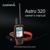 Garmin Astro® Bundle (Astro 320 and DC™ 40 Dog Collar), Europe - Owner's Manual