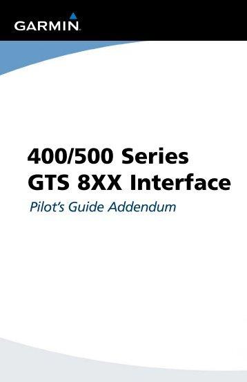 400/500 Series Garmin Optional Displays