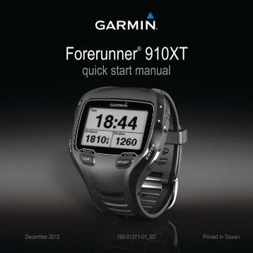 Garmin Forerunner® 910XT - Quick Start Manual