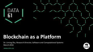 Blockchain as a Platform