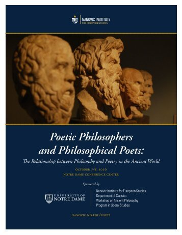Poetic Philosophers and Philosophical Poets