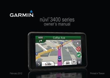 Garmin nuvi 3490,GPS,MPC,Volvo - Owner's Manual