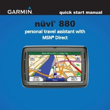 Garmin nüvi® 880 - Quick Start Manual