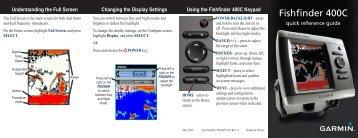 Garmin Fishfinder 400C - Quick Reference Guide