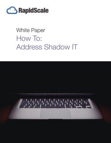How To Address Shadow IT