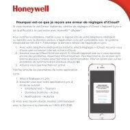 Honeywell Lyric Round™ Wi-Fi Thermostat - Second Generation (RCH9310WF) - Erreur de réglages d'iCloud (French)