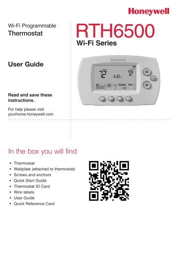 Thermostats line Guide Honeywell Sensing and Control