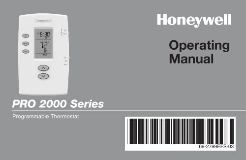 Honeywell pro 2000 5 2 day programmable thermostat manual and user honeywell pro 2000 5 2 day programmable thermostat pro 2000 5 2 day programmable thermostat operating manual englishfrenchspanish cheapraybanclubmaster Choice Image