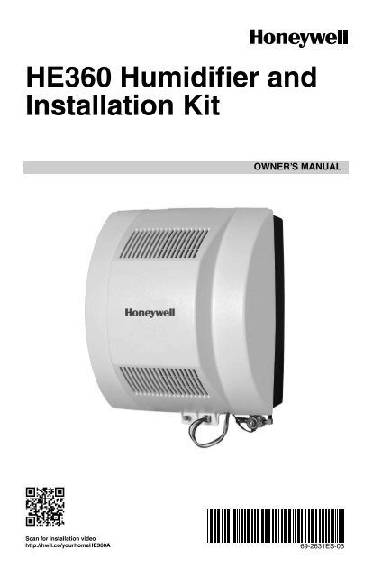 Fine Honeywell H360 Power Flow Through Humidifier He360A Manual And Wiring 101 Akebretraxxcnl