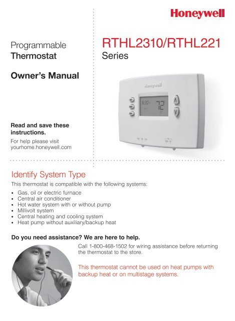 Honeywell Thermostat Rth221b Owners Manual - Enthusiast Wiring ...