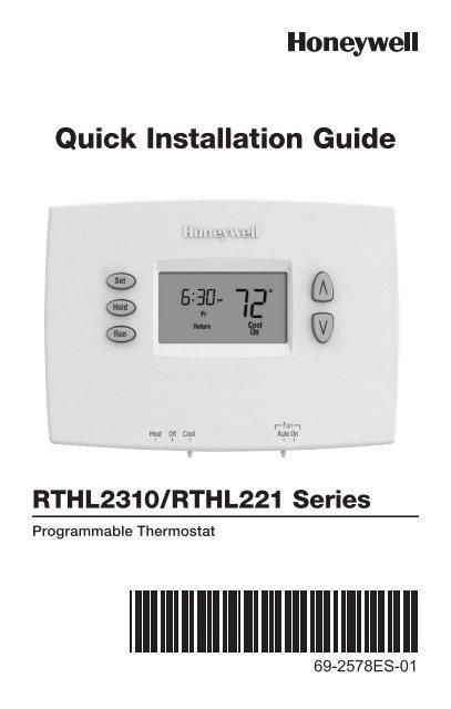 honeywell day programmable thermostat rthlb manual and honeywell 5 2 day programmable thermostat rthl2310b 5 2 day programmable thermostat installation manual english spanish