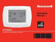 Honeywell 7-Day Programmable Thermostat (RTH8500D) - 7-Day Programmable Thermostat Operating Manual (English, French)