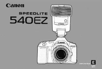Canon Speedlite 540EZ - Speedlite 540EZ Instruction Manual