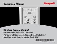 Honeywell Programmable Wireless FocusPRO Comfort System - Programmable Wireless FocusPRO Comfort System Operating Manual (English,French,Spanish)