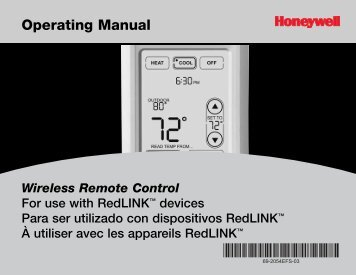 Honeywell Programmable Wireless FocusPRO Comfort System - Programmable Wireless FocusPRO Comfort System Operating Manual (English,French,Spanish)