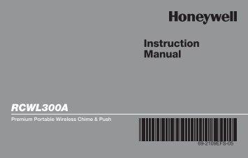 Honeywell Premium Portable Wireless Chime & Push Button (RCWL300A) - Premium Portable Wireless Chime & Push Button Instruction Manual (English, French, Spanish)