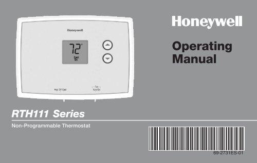 honeywell digital non programmable thermostat rth111b manual and rh manualsmania com Honeywell RTH111B Thermostat Problems To Set Honeywell Thermostat RTH111B Thermostat Manual