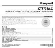 Honeywell Round® Non-Programmable Thermostat (CT87) - Round Non-Programmable Thermostat Owner's Manual (English)