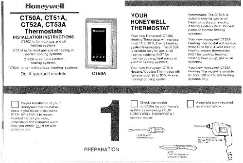 honeywell standard non programmable thermostat ct5x manual and honeywell standard non programmable thermostat ct5x standard non programmable thermostat installation manual english